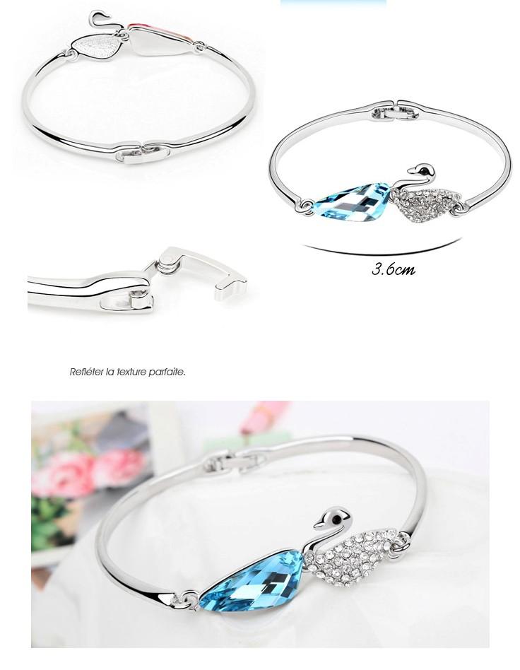 bracelet cygne cristal bleu azur boutique. Black Bedroom Furniture Sets. Home Design Ideas